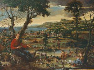 Nature morte aux citrons (ma première nature morte) Huile sur Bois 30X40 Bhavsar - Saint François prêchant les oiseaux Huile sur toile 114x146 Bhavsar