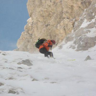 29/03/08 Ski de rando : Pointe de Chalune : couloir du Thermos 5.2 E4