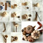 How To Make Felt Flower Bouquet step by step DIY tutorial instructions