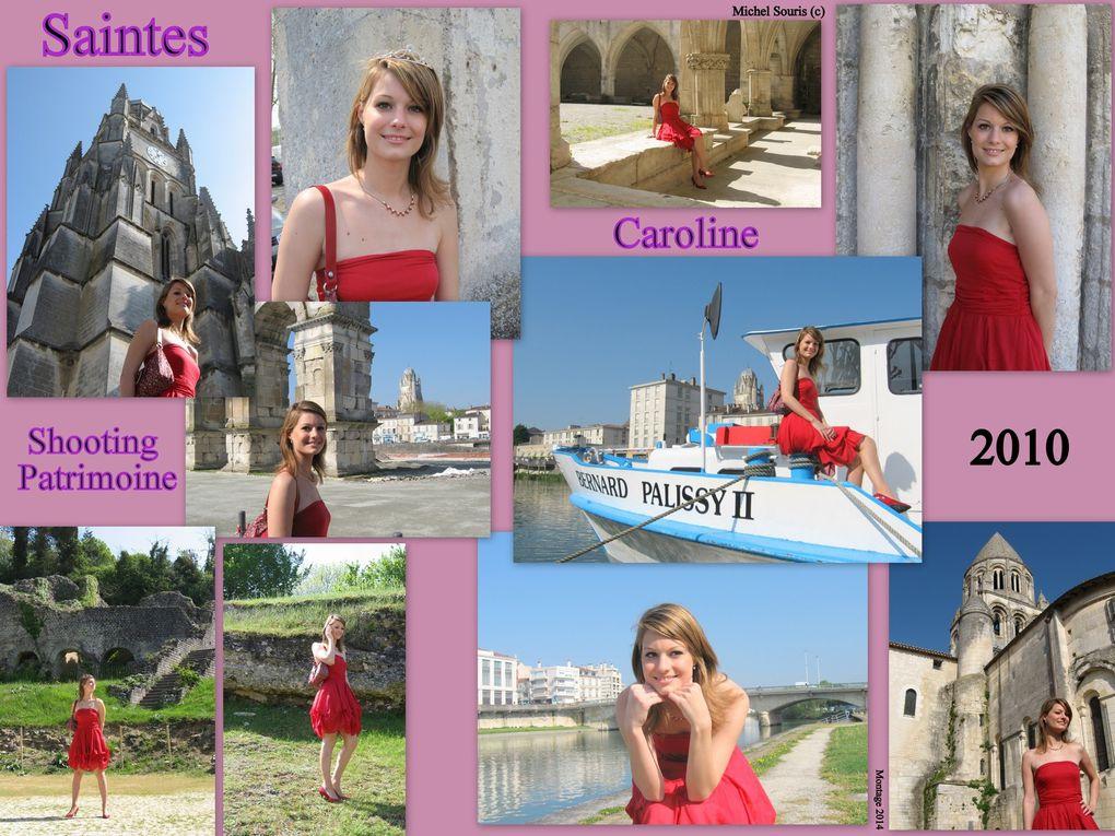 """20 - Transports à Saintes - Patrimoine nature.... pas si simple - Graffiti d'un lieu de justice.. en son palais saintais - Un """" Top modèle """" soutient le patrimoine saintais ... Caroline"""