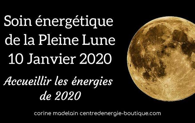 Ressentis et guidance suite au soin énergétique pleine lune 10 janvier 2020