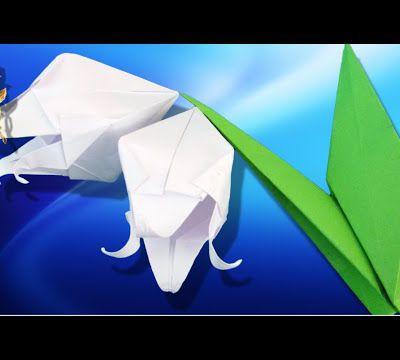 Origami : 🌷 Fleur de Muguet 💐