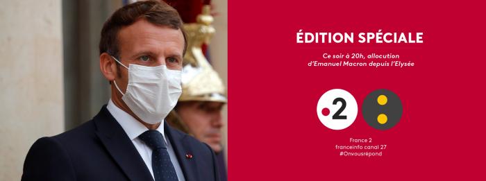 Edition spéciale sur France 2 et franceinfo pour l'allocution d'Emmanuel Macron