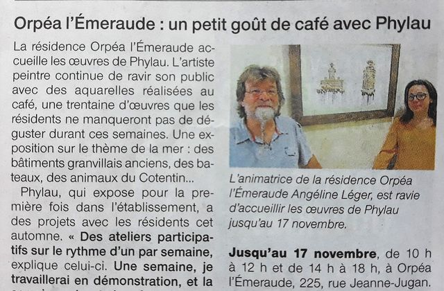 Article Ouest France du 06 Octobre 2017