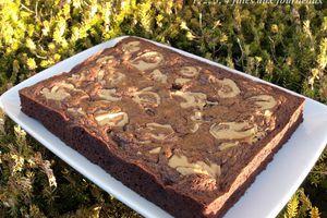 Brownie chocolat / banane et purée de cacahuètes
