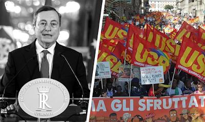 Le syndicat USB, la clef de l'opposition populaire au banquier Draghi