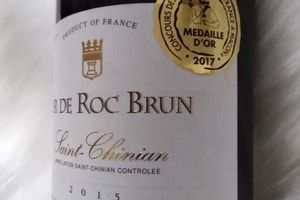 3 Médailles d'Or pour le  Saint-Chinian Sir de Roc Brun 2015