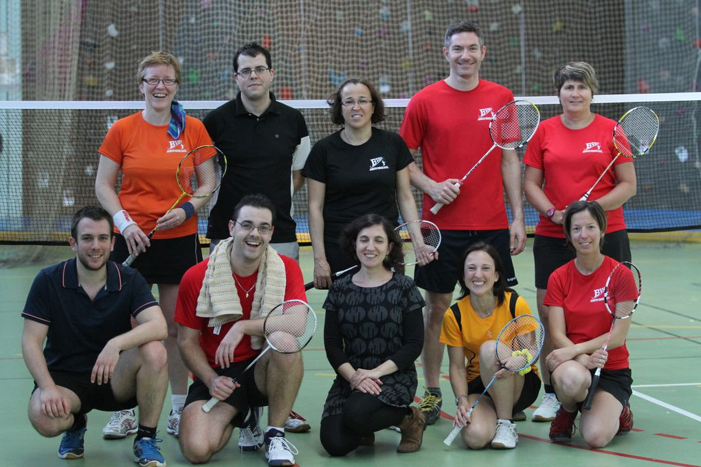 La sympathique équipe 2 du Badminton Vénissieux Sud-Est a fait chou blanc cette saison en Départementale 2.
