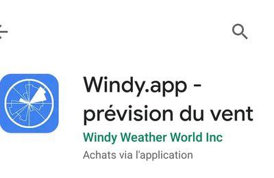 Comment personnaliser l'application Windy qui permet de connaitre les vents sur les lacs.
