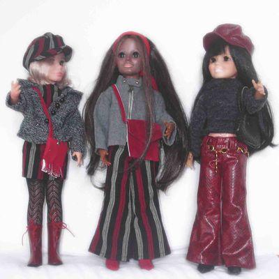 De rouge, de gris et de noir ...
