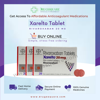 Xarelto 20 mg Price (Rivaroxaban) - Buy Online at Lowest Price From India