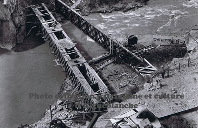 Construction du barrage des Echelles d'Hanibal