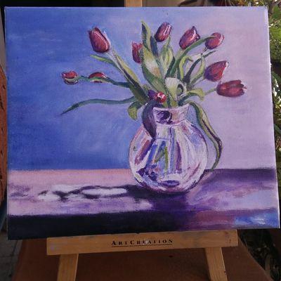Bouquet de tulipes rouges.