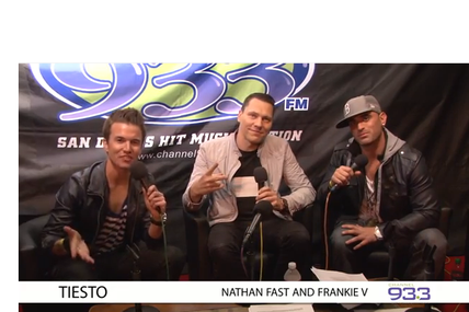 Tiësto interview vidéo at Channel 933's Summer Kick Off Concert