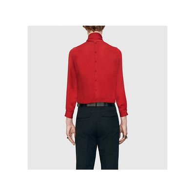A basic back buttoned shirt by Gucci