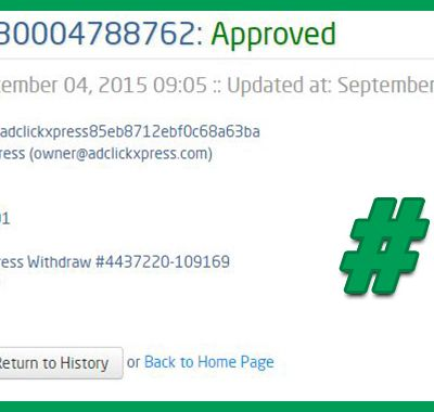 AdClickXpress Withdrawal Proof no 1!