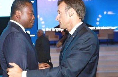 Le dictateur françafricain Faure Gnassingbé à l'Elysée le 1er avril (LdC)