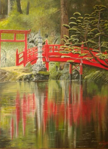 Bravo à nos 4 artistes ! Forêt tropical peint par Simone. Ma croix peint par Elisabeth. Jardin japonais peint par Danie. Et une Herrero, d'après photo lors d'un voyage, peint par J.C. Du beaux travail !!!