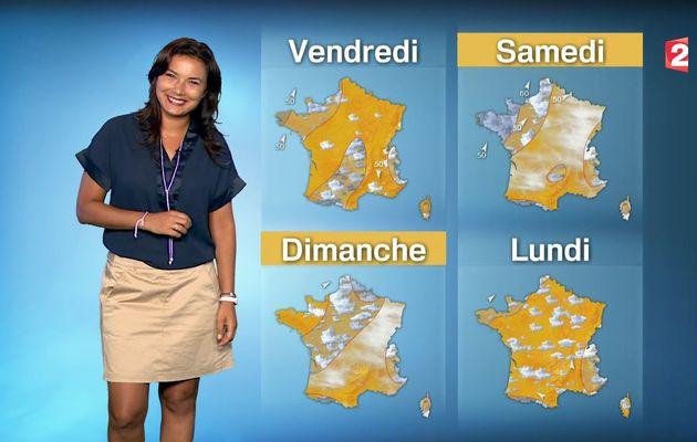 ANAIS BAYDEMIR @France2tv pour LA METEO ce midi #vuesalatele
