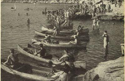 Compétition de canoës en 1953