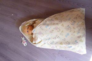 Grande sortie de bain  doublée  bébé -facile -