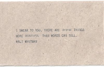 Walt Whitman - English