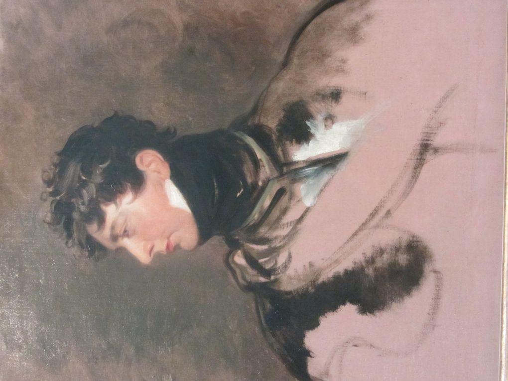 Modernité de ce tableau par le fait qu'il paraît inachevé. Il s'agit du roi d'Angleterre Georges IV.