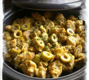 Tajine au poulet et olives vertes