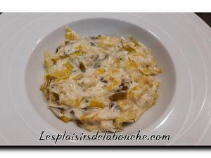 Noix de Saint-Jacques et sa fondue de poireaux  à la crème
