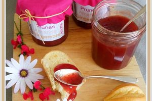 Confiture Prune amande Gingembre