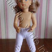tuto gratuit poupée : pantalon printanier à trous - Chez Laramicelle