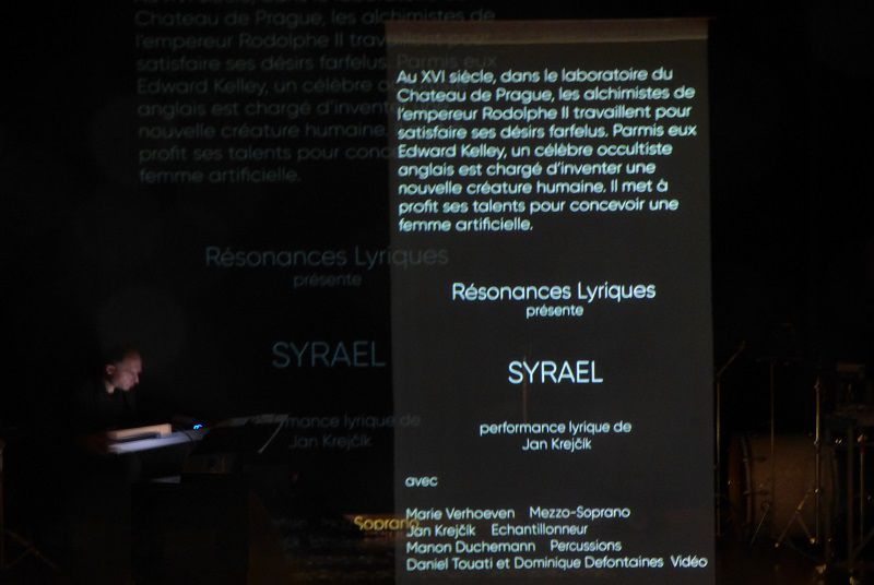 Syrael (Résonances lyriques-Marie Verhoeven-Jan Krejčík) Centre culturel tchèque de Paris