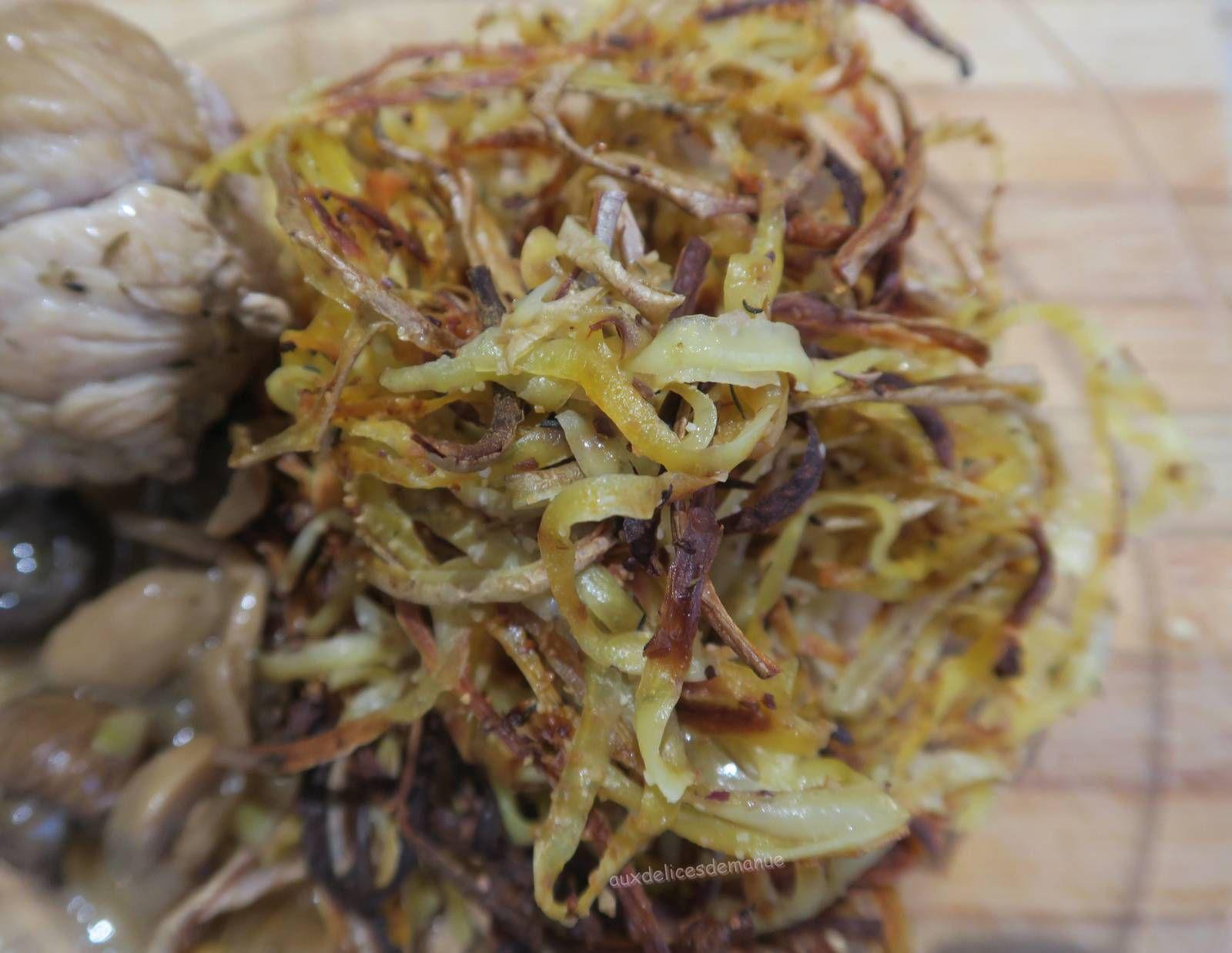 Spaghetti de pommes de terre au four