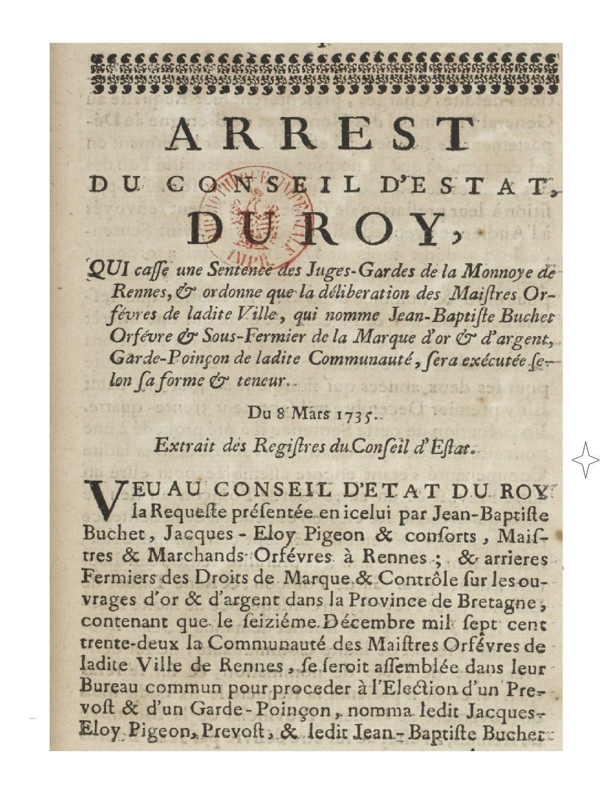 Une dynastie d'orfèvres Rennais : la famille Buchet.