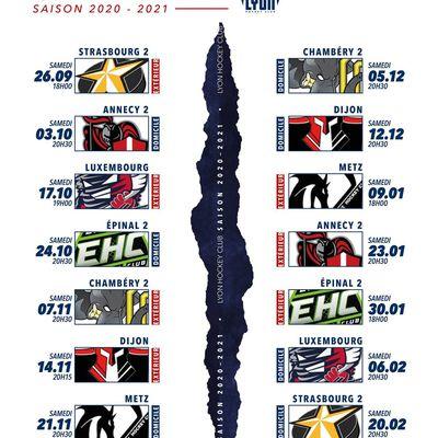 Calendrier 2020/2021 du Lyon hockey club(LHC) et places à gagner.