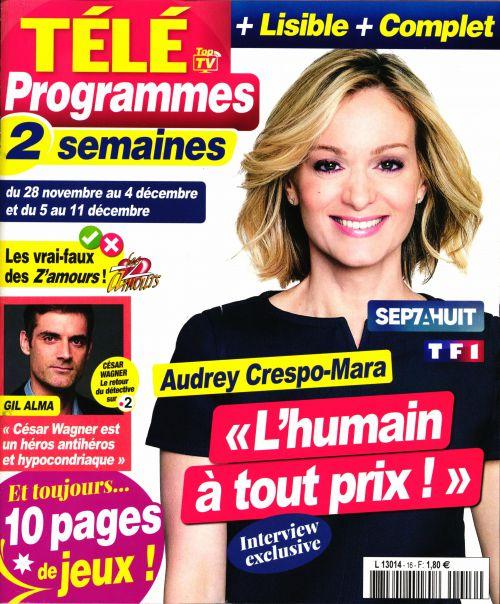 La une de 11 nouveaux numéros des revues TV ce lundi : Clément Rémiens, Denis Brogniart, M Pokora...
