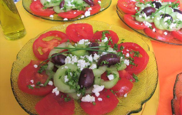Petites salades à la grecque