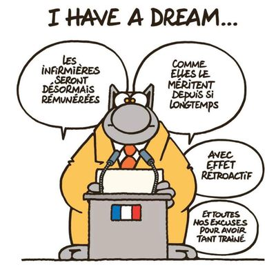 Le chat has a dream
