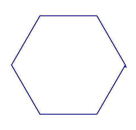 Deux hexagones obtenus selon des méthodes différentes