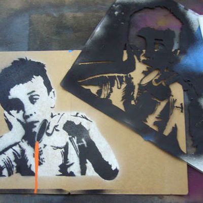 Eigenversuch: Multi-Layer Stencil Art