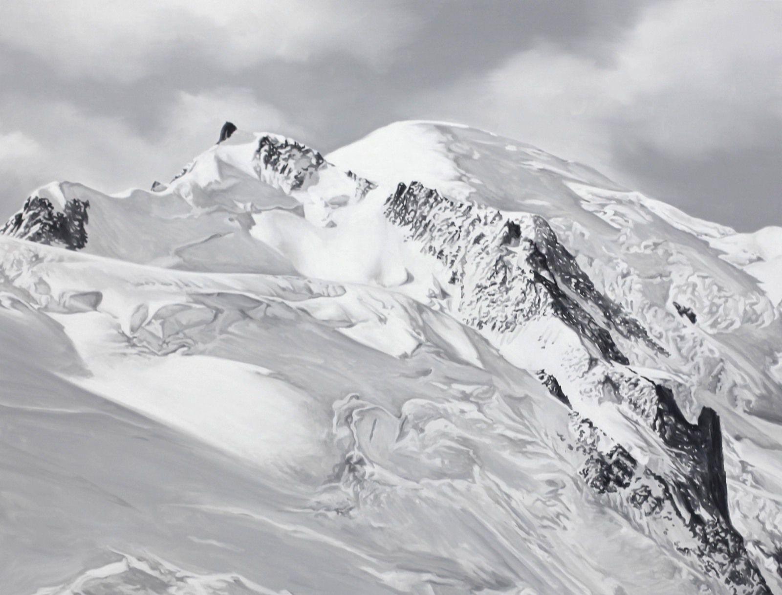 """""""Mont Blanc"""", 2018 de Hervé HEUZÉ - Courtesy de la Galerie RICHARD - PARIS © Photo Éric Simon"""