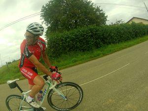 18 cyclistes au RDV pour cette sortie du lundi 04/08 en direction du secteur de Contrex / Martigny... 100 kms au compteur.