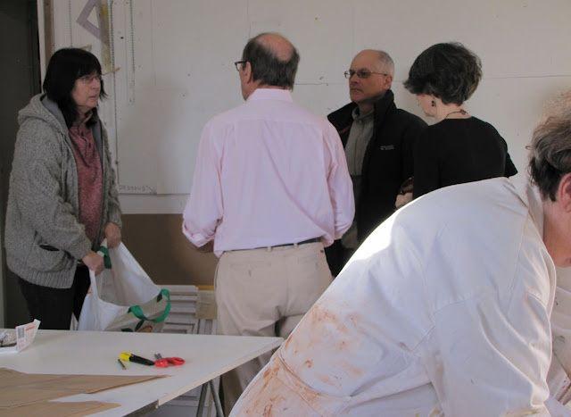 Exposition de l'Atelier Portrait à la Médiathèque de Palaiseau, début février 2012. Affiche de ML, photographies prises pas Michèle S.