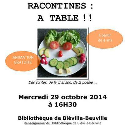 RACONTINES : A TABLE !!