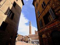 Piazza Del Campo, la place centrale de Sienne est l'une des plus grandes et plus belles places médiévales encore conservées..révélée sous la forme d'un coquillage, on peut l'imaginer aussi sous la forme d'un coeur, centre névralgique de la cité, le campo est le centre urbain de Sienne, celui de l'imaginaire collectif et des émotions.