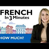 Learn French - French in 3 Minutes - How Much? - LINGUE SENZA SFORZO