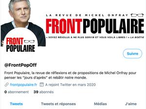 Michel Onfray - Lancement de la revue «Front populaire» - 12.04.2020