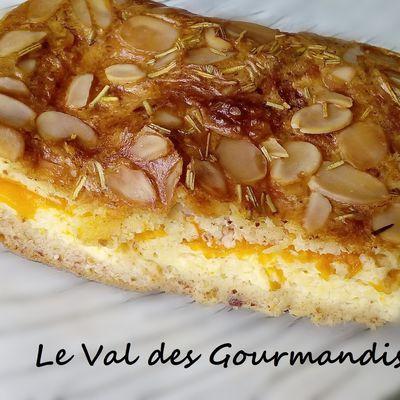 Clafoutis aux abricots, amandes et romarin