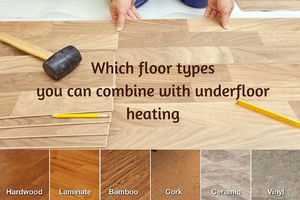 Which floor types you can combine with underfloor heating?