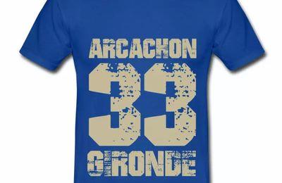 T shirt Aquitaine bleu r homme Arcachon 33 Gironde